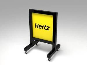 Representacion tridimensional de display para estacionamiento tipo tres