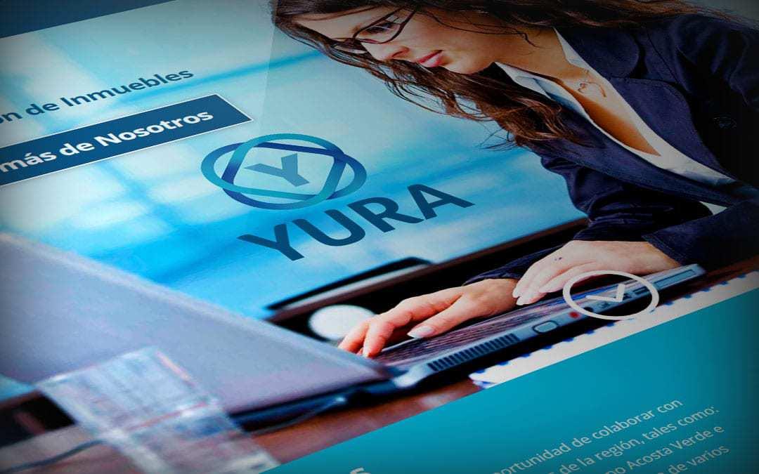 Diseño de página web YURA Administración de inmuebles