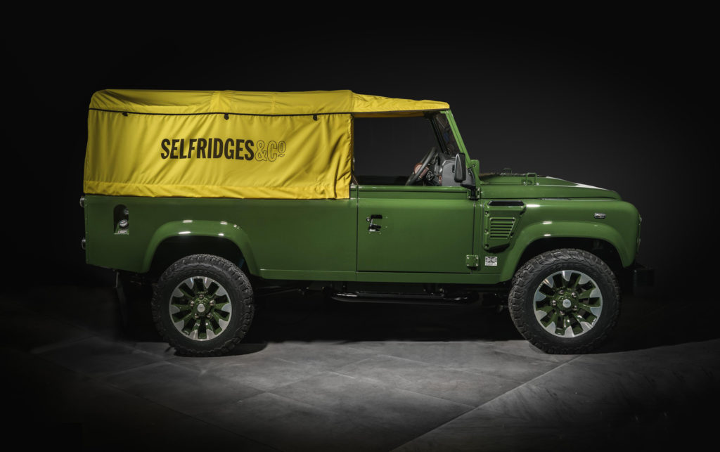 Special Land Rover Defender completed inside London store