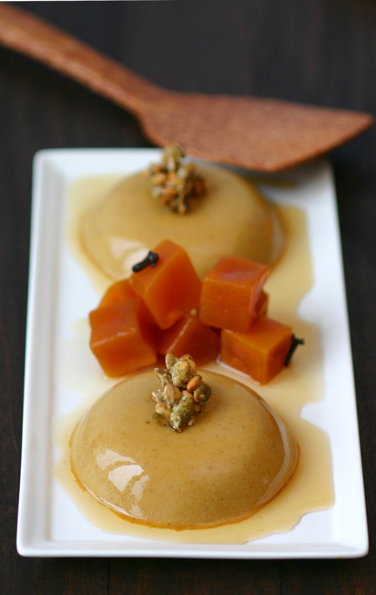Silky and delicate, this recipe for Vegan Pumpkin Panna Cotta with Pumpkin Seed Brittle is a true showstopper.