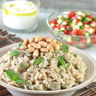 Fava Bean Rice Pilaf