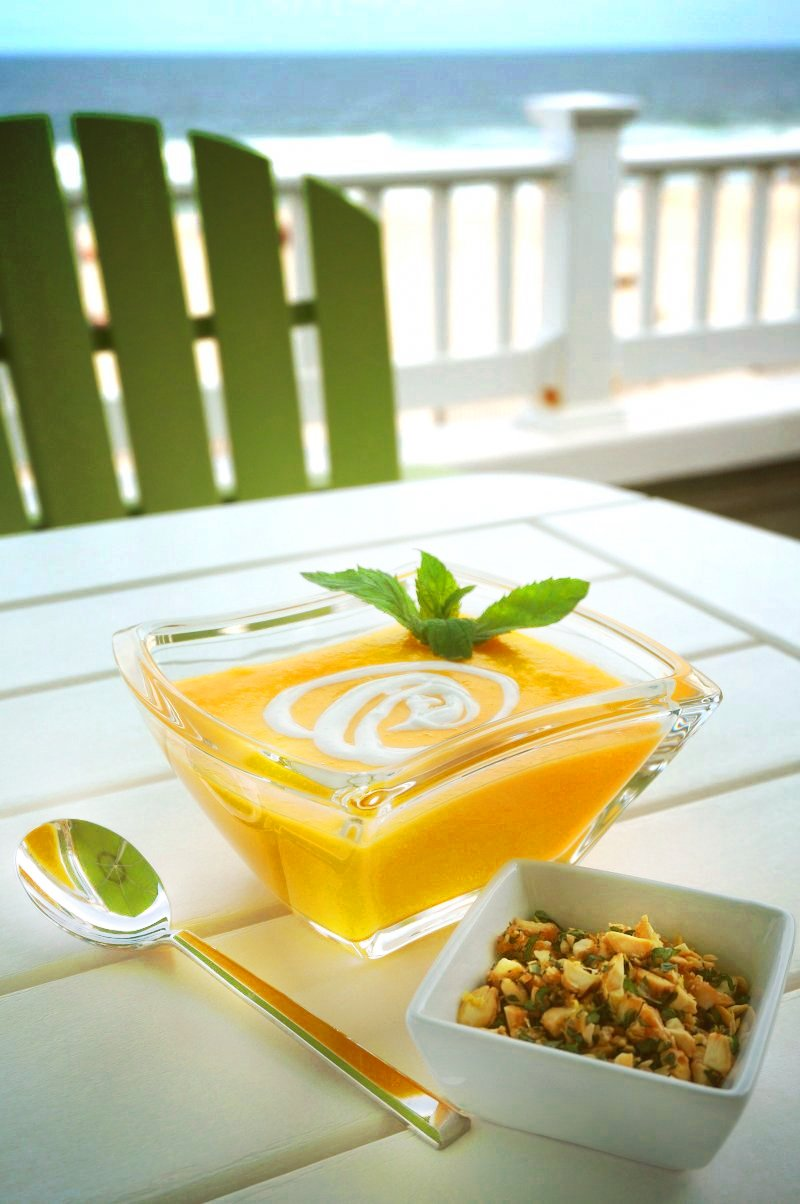 Chilled Melon Soup is a sweet, refreshing, and fragrant dessert that's the perfect end to a hot summer day's meal.
