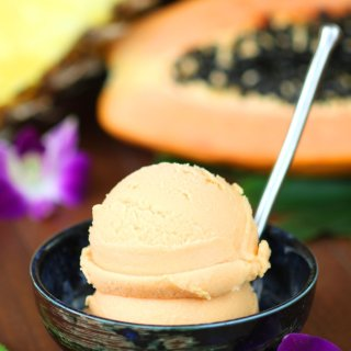 Papaya Pineapple Sherbet