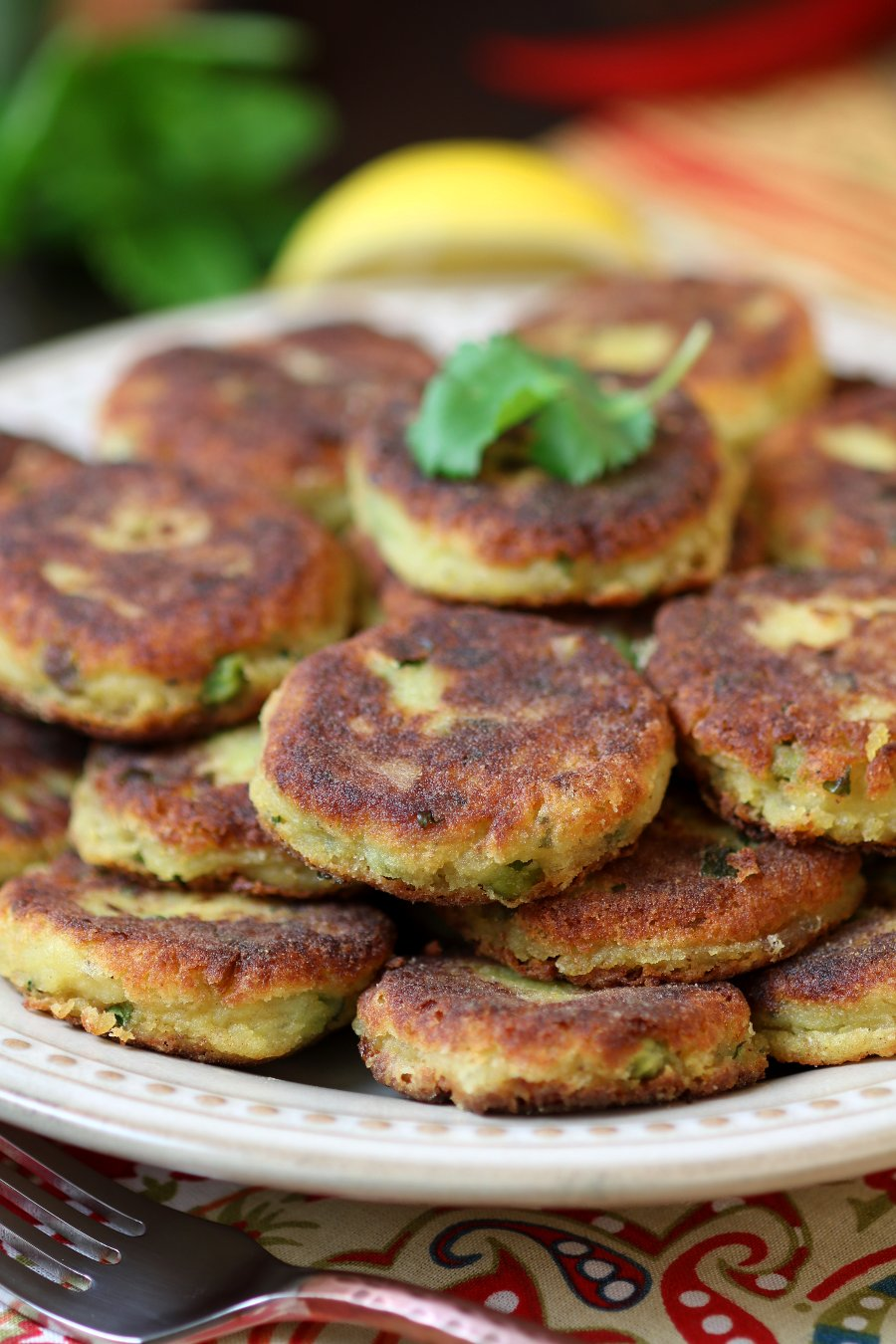 Indian spiced potato cakes recipe