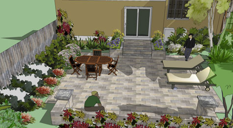 Designing With Concrete Pavers on Square Patio Designs  id=67801
