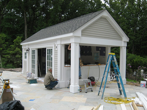 Pool Cabana Progress - RB Project #6.15 | LandscapeAdvisor on Cabana Designs Ideas id=53808