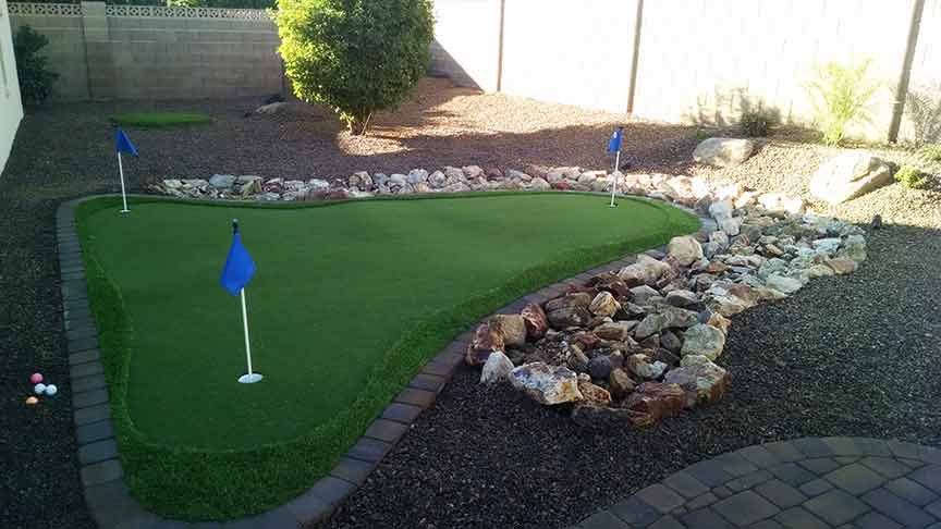 Synthetic Grass Artificial Putting Greens custom design ... on Putting Green Ideas For Backyard id=57081