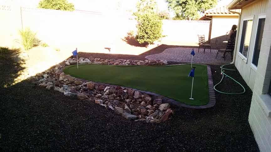 Backyard Landscaping Putting Green - Az Living Landscape on Putting Green Ideas For Backyard id=72261