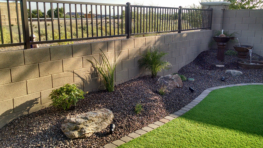 Small Backyard Landscaping - Az Living Landscape & Design on Backyard Desert Landscaping Ideas On A Budget  id=60641