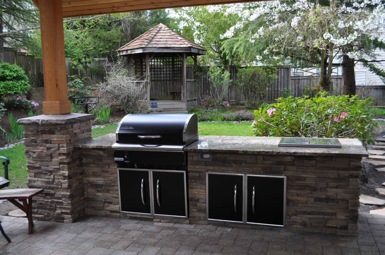 Outdoor Kitchen Designs for Portland, Oregon Landscaping ... on Backyard Patio Grill Island id=23550