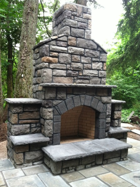 outdoor patio fireplace 7 Outdoor Hearths Perfect for Portland Landscaping