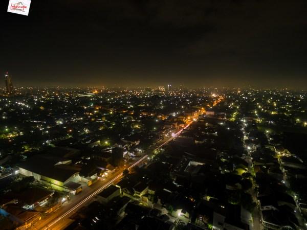 Aerial Fotografi di Malam Hari
