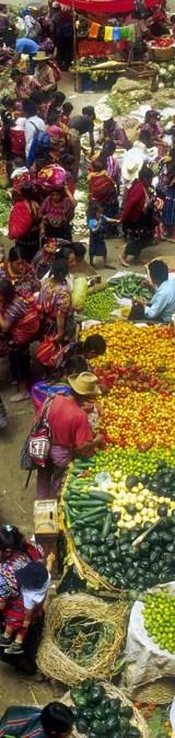 12 July 2005, Guatemala - Market scene.