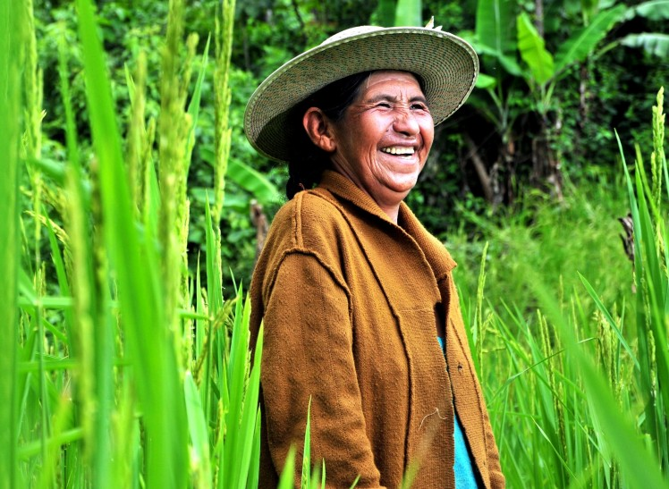 Programs that seek to engage women in agriculture and food security initiatives must clearly articulate the desired outcomes for the program overall, for women in particular, and how precisely those outcomes will be achieved. Photo by Neil Palmer, from CIAT on Flickr.