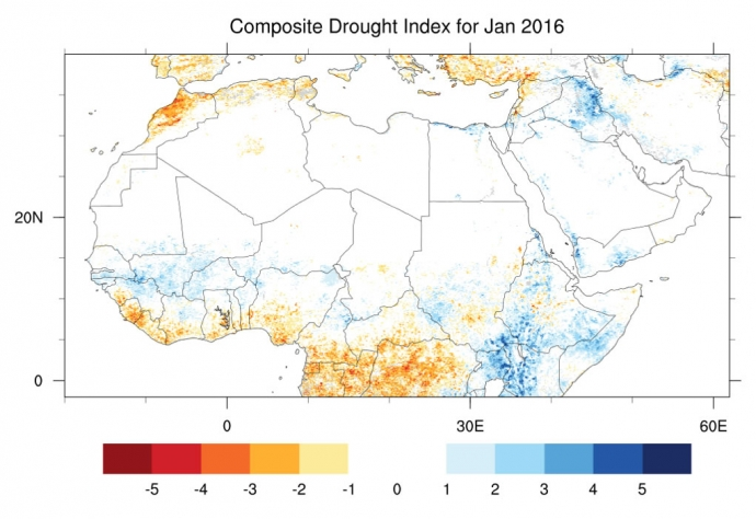 Drought Map MENA