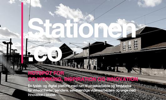 Mød os på Stationen.co - et hotspot for iværksættere og andet godtfolk holder til på Sorø Station