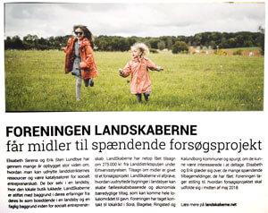 Artikel i Sorø Erhvervsmagasin: Foreningen LandSkaberne får midler til spændende forsøgsprojekt
