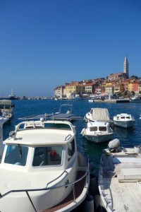 Rovinj is an active port