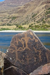 Petroglyphs along the river