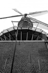"""De Windhond"" gristmill in Woerden"