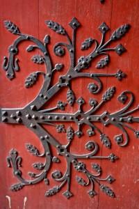 Medieval door hinge on the Strasbourg Cathedral