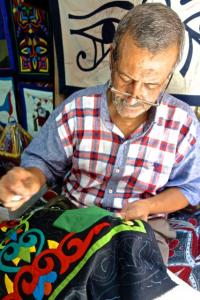 Traditional applique' quilting done by a master