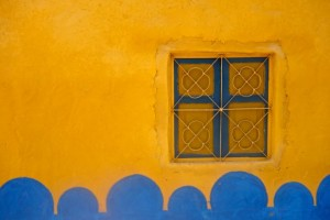 Painted Nubian home