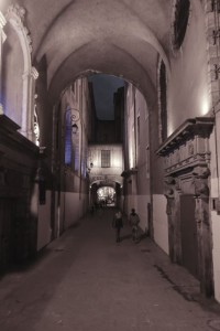 Medieval Lyon alleyway