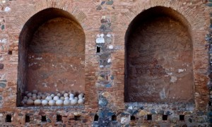 Medieval cannonballs in the Alcazaba