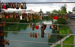 Love locks old and new