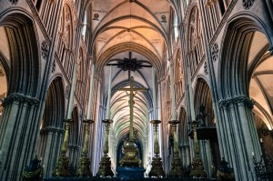 Inside the Cathedral in Bayeux