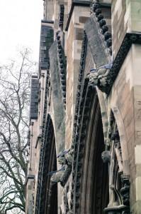 Rude gargoyles adorn Westminster