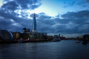 The Shard and Scoop from Tower Bridge