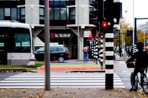 Rainbow Rotterdam walkway