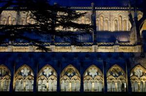 Salisbury cloister view