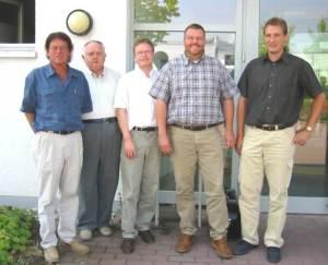 Willi Teutsch, Northeim, Horst Niemeier, Osterode, Dr. Bernd von Garmissen, LHS, Achim Hübner, Göttingen und Gerhard Rudolph, Alfeld, 2005