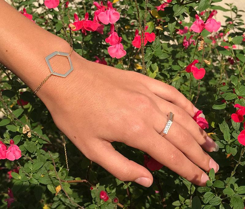 Collection Landy bracelet duo bague diamants