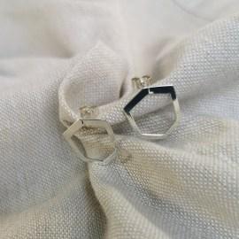 Boucles Mini-Landy argent - création joaillier la rochelle