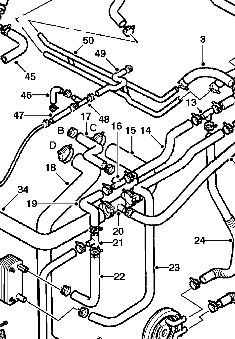 Help with v6 cooling system part number identification landyzone rh landyzone co uk 2002 land rover freelander cooling system diagram land rover discovery