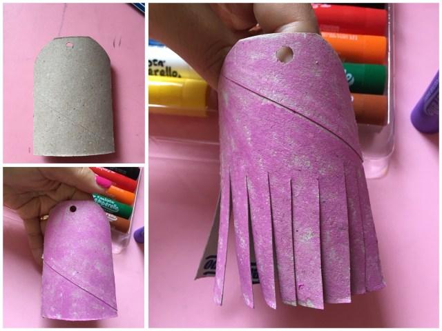 Ballerina con rotolo di carta igienica