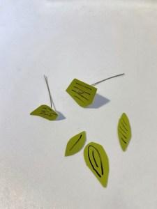 foglie con cartoncino