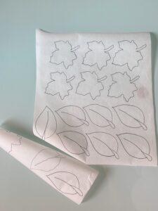 Carta forno con foglie
