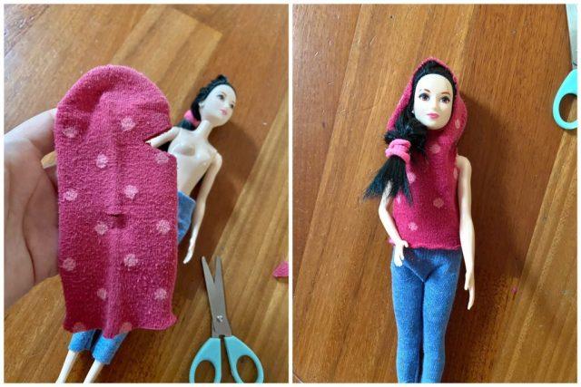 felpa di barbie fai da te