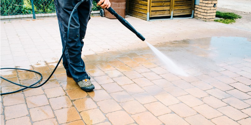 how to clean paving stones lane s