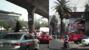 ¡Conductor atropella a ladrón para evitar que se de a la fuga! (Vídeo)