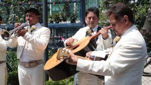 Mariachi protesta cantando Himno Nacional de EUA frente a su embajada