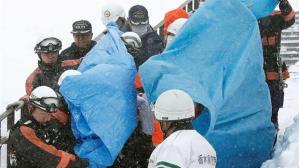 8 muertos en avalancha de nieve en Japón