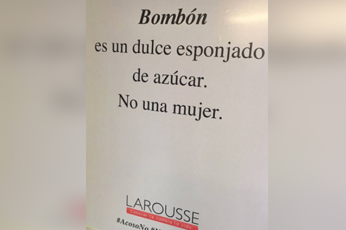 Larousse lanza campaña contra el acoso sexual