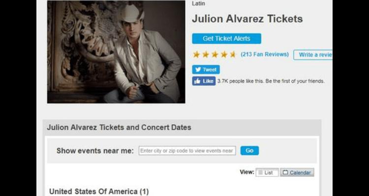 Julión Álvarez cancela concierto en Estados Unidos