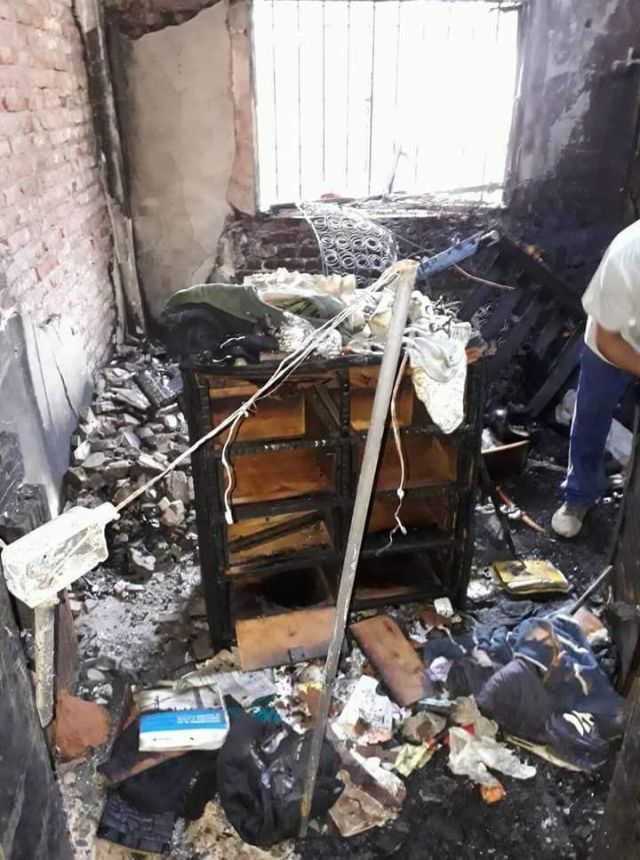 Sujeto incendia la casa de su esposa ¡y quema a su sobrino! (FOTOS)